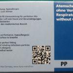 10-er-Pack-FFP2-Maske Kartonseite mit Produktbeschreibung